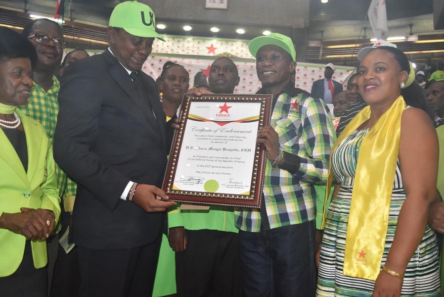 H.E President Uhuru Certificate